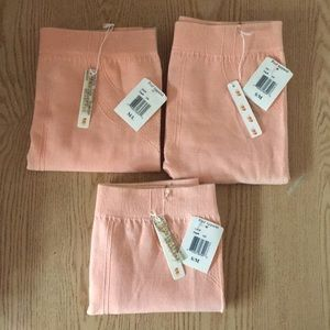 New Poof Light Peach Leggings Stretchy S/M & M/L
